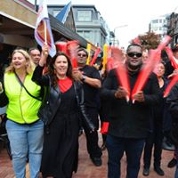 TEU members joining the rally